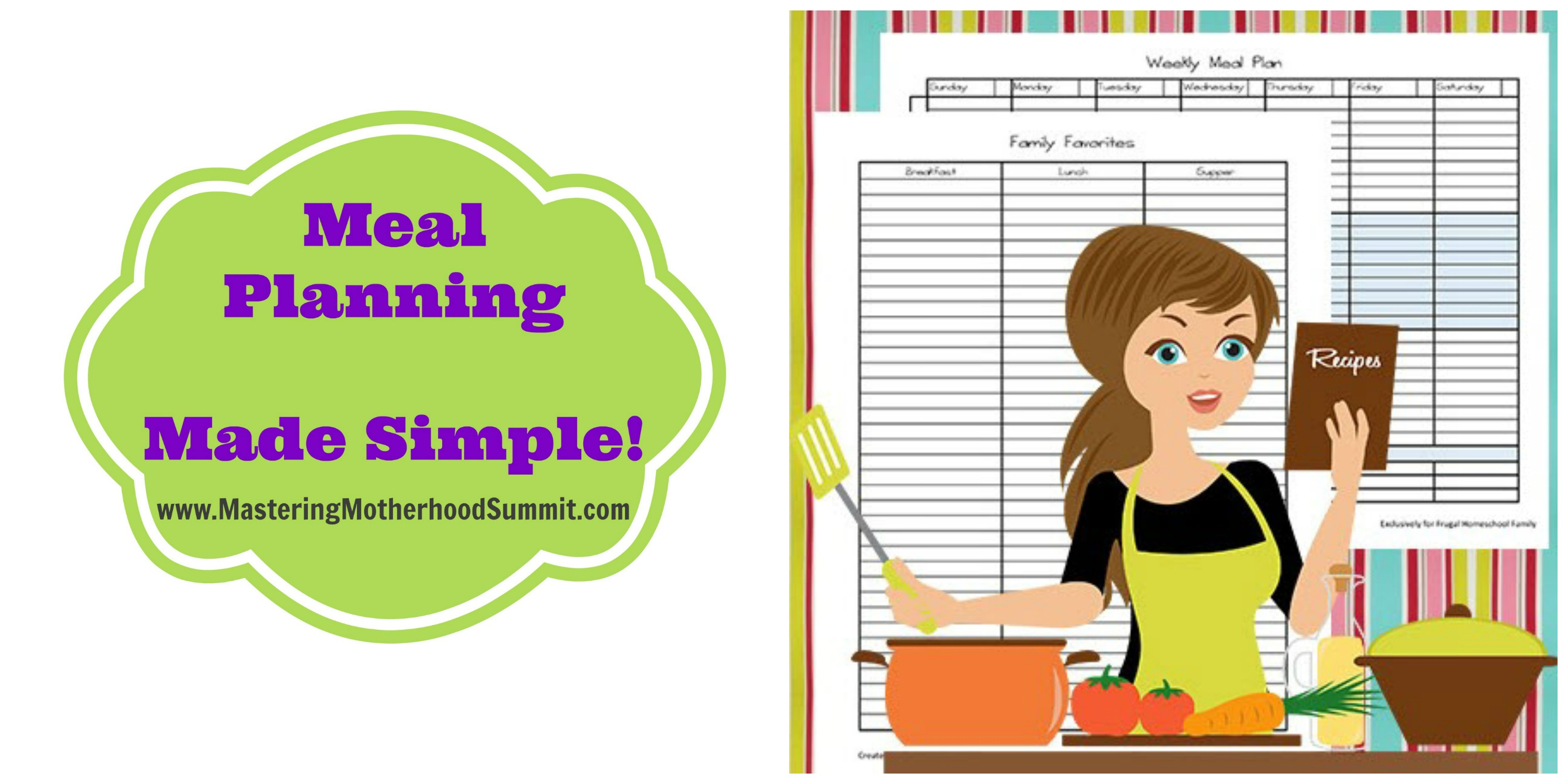 Meal Planning Blog Icon